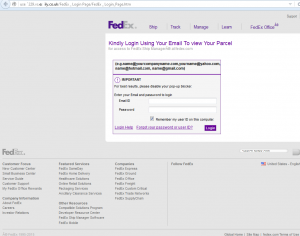 Figure 6: Phishing website example, Retrieved from https://securelist.com/blog/phishing/73174/tis-the-season-for-shipping-and-phishing/