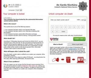 Figure 1 Locker Ransomware: Voucher Code Entry Screen
